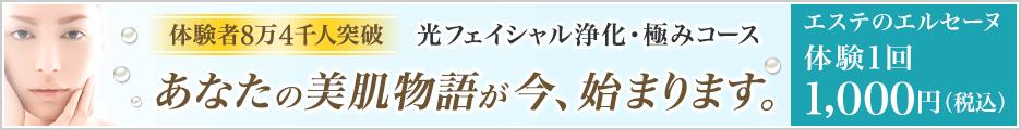 エルセーヌ『光フェイシャル浄化コース』体験
